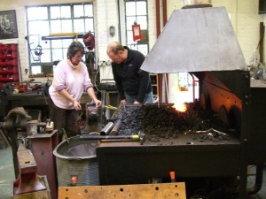Jim and Iron Maid at Little Duck Forge